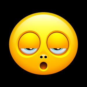 Emoticone fatiguée