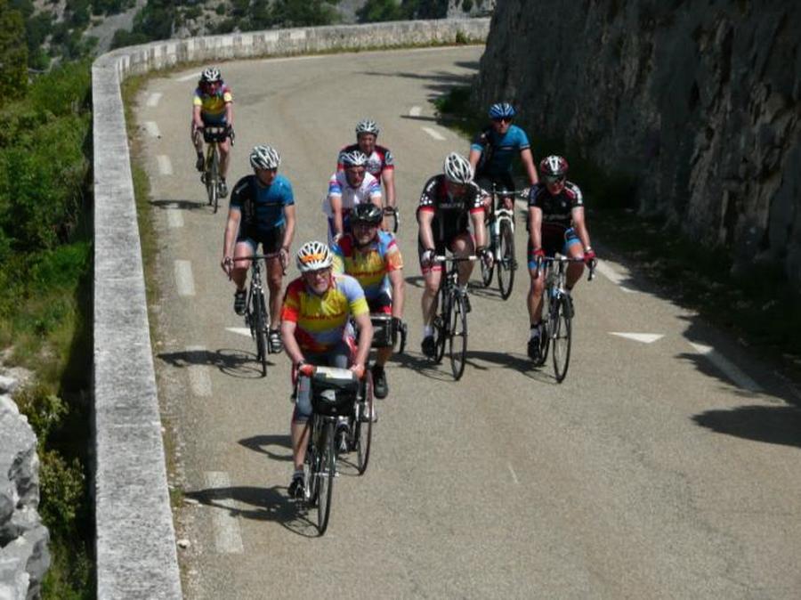 Rencontre avec un autre groupe de cyclo