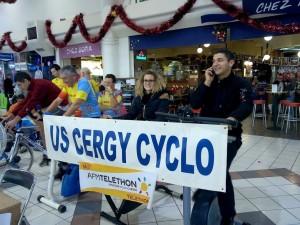 L'US CERGY CYCLO au téléthon 2014