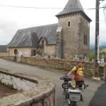 Joseph devant l'église de Musculdy
