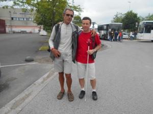 Henri et Joseph le vendredi à Bayonne avant le transfert pour Luchon