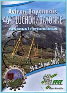 Affichette Luchon Bayonne 25 et 26 juin 2016