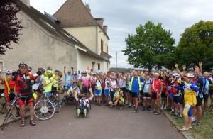 Le groupe Arc en Ciel Aventure à Morey Saint-Denis mardi 2 août
