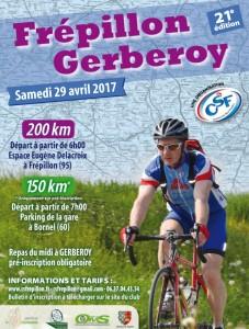 Affiche Frépillon-Gerberoy-Frépillon 2017