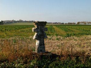 La croix pattée symbole du Parc Naturel Régional du Vexin Français